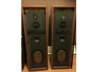 Vintage Kef Transmission Line Speakers Kef drivers and Coles Super Tweeter