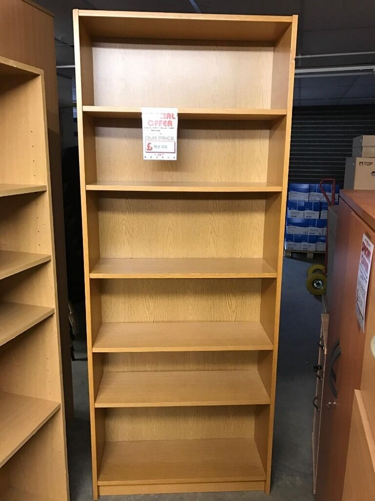 Bookcase, Finished In Oak. With Adjustable Shelves. 1800mm Height x 760mm Width. 1 In Stockin Norwich, NorfolkGumtree - Bookcase, Finished In Oak. With Adjustable Shelves. 1800mm Height x 760mm Width. 1 In Stock. Free delivery for Norfolk & Suffolk