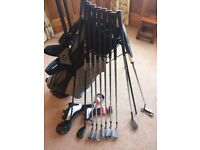 Full set of clubs Titleist 910D3 driver, 910Hybrid, AP2 712 irons, Vokey Wedge and Ping Anser putter