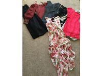 8 dresses includes leather dress