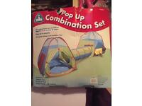 Fun & Leisure Adventure Play Tents and Tunnel Set *3 Piece Set* INDOOR OUTDOOR