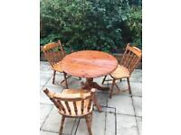Pine table and chairs for shabby chic project