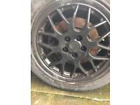 Volkswagen Audi skoda BBS alloy wheels with tyres 5 stud 205/55/16