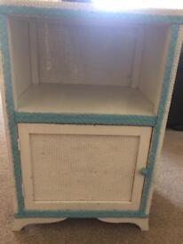 Blue & white bedside cabinet