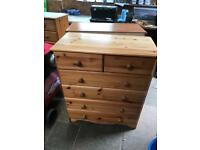 Chest of draws pine