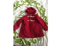 Red 3-4 years girls coat next