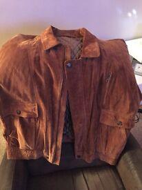 Men's light tan suede jacket