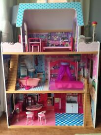 Immaculate, large wooden dolls house - ideal Christmas present for any little girl !