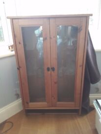 DVD / CD Glass Door Wall Unit