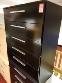 Collection Sparkle 5 Drawer Chest - Black