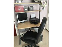Computer workstation and Office chair. Excellent condition hardly used.