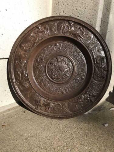Baroque Style Cast Iron Charger with Mythological Scenes