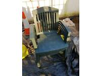 Plastic patio chairs free to collector tor