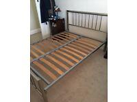 Metal double bedframe