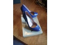 Beautiful blue shoes by Dune