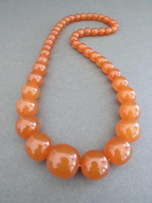 Vintage Baltic Butterscotch Egg Yolk Amber Necklace