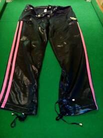 Missy elliot Wet look Adidas 3/4 leggings sz s