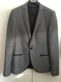 Topman grey 3 piece suit - worn once