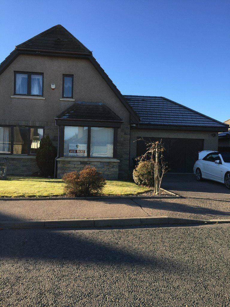 CHARLESTON CRESCENT, COVE, ABERDEEN. 3 BEDROOM DETACHED HOUSE WITH LARGE CONSERVATORY