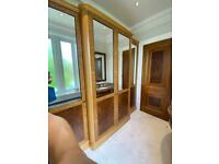 Luxury Harrison Collier Oak Wardrobe with Mirrored Doors, DISMANTLED