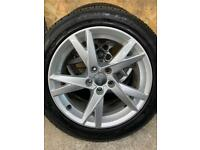 "Genuine 17"" Audi A4 alloy wheels and tyres"