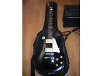 Encore Les Paul style electric guitar and Amp