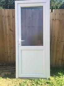 UPVC door with frame, handles/lock and key