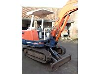 KUBOTA KH27 ACE GEAR TRACKED DIGGER WITH 2 BUCKETS.
