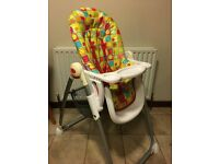 Mothercare Arc Highchair with RemoveableTray High Chair RRP £99