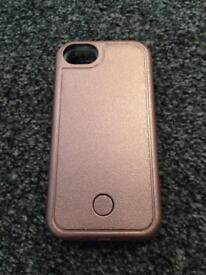 LED phone case (rose gold)