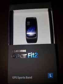 Samsung Gear Fit2 GPS Sports Watch in Black (BRAND NEW)
