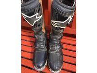 Alpinestars Motorcross Adventure Boots Size US 12. UK SIZE 11.5