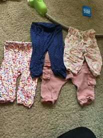 Baby girl trousers 3/6m