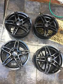 "WOLFRACE Alloy wheels 16"" inch x 7j 5x110 Vauxhall astra calibra corsa meriva vectra zafira alloys"
