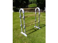 Wooden clothes horse / airer in grey