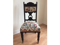 Victorian Antique Gothic Styled Hall Chair Bretton Hall Country House c1850