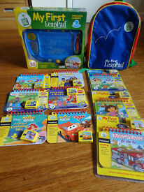 CHILDREN'S LEAPFROG MY FIRST LEAPPAD LEARNING SYSTEM WITH 9 INTERACTIVE BOOKS, CARRY ALONG RUCK SACK