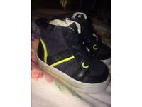 Baby Boys Hugo Boss High Tops Size 17 Navy/Lime