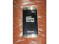 Samsung Galaxy S6 64gb edge Factory unlocked. cracked glass. fully working