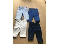 4 pairs of high waisted skinny jeans size 8