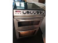 Zanussi Electrolux double electric oven and glass hob. Stainless steel and black. Delivery available