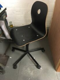 Office chair with 4 wheels , black