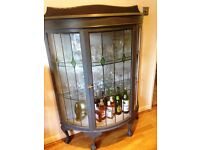Lovely vintage painted drinks/china cabinet