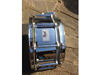 "Pearl 14"" x 6.5"" Free floating steel shell snare drum"