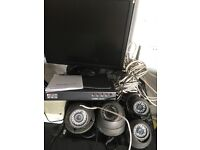 Cctv used 4 cameras dvdr and monitor for sale