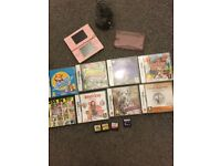 Nintendo lite pink complete with 12 games