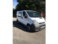 2005 Vauxhall vivaro 2900 1.9 cdti swb factory fitted 5seat crew van with twin side loading doors