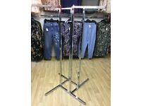 Four Way adjustable clothing rail shop retail display clothes garment shop fitting equipment
