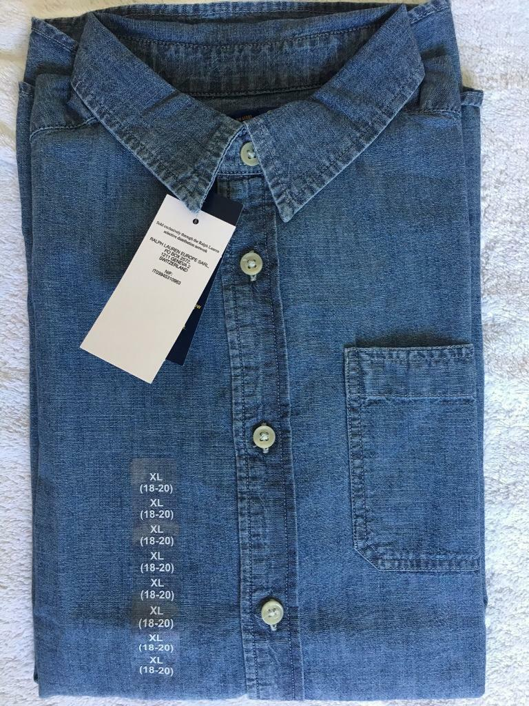 f703fd8e78 BNWT Ralph Lauren Polo Boy Shirt Blue Size Large / XL 13-14 Year Age Short  Sleeve. | in Walsall, West Midlands | Gumtree