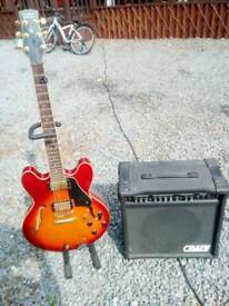 Tanglewood Chicago Electric guitar and amp